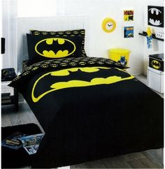 One of the joys of embracing geeky chic is that you have an excuse to have kiddie stuff!!! #batman #bedding