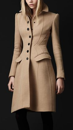 Crêpe Wool Tailored Coat. Burberry, I actually love this.