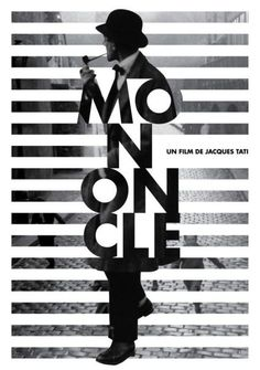 Mon Oncle Movie Identity on Behance poster design Graphic Design Posters, Graphic Design Typography, Graphic Design Illustration, Graphic Design Inspiration, Creative Poster Design, Type Posters, Poster Designs, Graphic Design Projects, Modern Graphic Design
