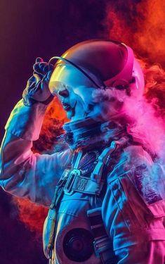 Space Phone Wallpaper, Trippy Wallpaper, Neon Wallpaper, Apple Wallpaper, Wallpaper Backgrounds, Iphone Wallpaper, 4k Phone Wallpapers, Astronaut Wallpaper, Space Artwork