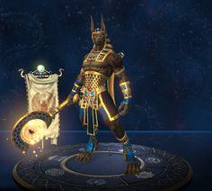 Anubis Golden In-Game Model (Smite)