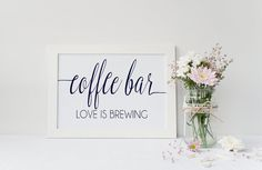 Instant Download Navy Coffee Bar Wedding by IrresistibleInvites1