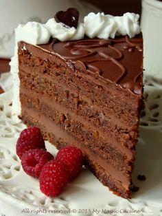 My Magic Cuisine: Čokoladna čarolija Torte Recepti, Kolaci I Torte, Sweet Desserts, Sweet Recipes, Bakery Recipes, Dessert Recipes, Cake Cookies, Cupcake Cakes, Torta Recipe