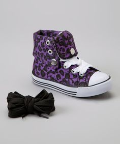 Another great find on #zulily! Purple Leopard Hi-Top Sneaker by Collection'O #zulilyfinds