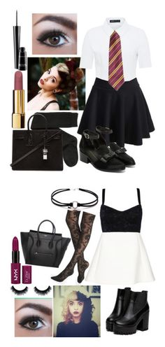 """""""Elizabeth Green"""" by some-harry-potter-freak on Polyvore featuring Hallhuber, H&M, Intentionally Blank, Yves Saint Laurent, Chanel, MAC Cosmetics, Express, Neil Barrett and Dolce&Gabbana"""