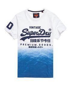 Superdry Camiseta tropical Premium Goods Blanco Playera Cuello Redondo ddd9e9cfe77