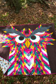 Owl Quilts, Bargello Quilts, Animal Quilts, Baby Quilts, Camo Quilt, Bird Quilt, Quilting Projects, Quilting Designs, Sewing Projects