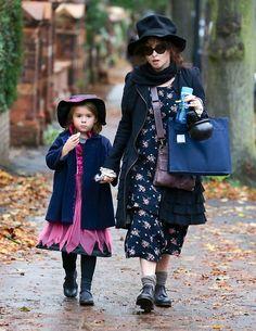 Helena Bonham Carter's daughter went as Helena Bonham Carter for Halloween! That's very sweet.     Suri's Burn Book