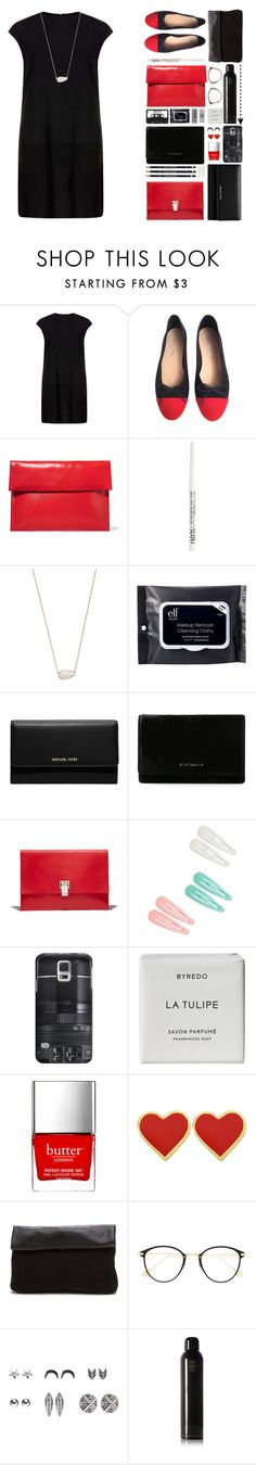 """battle of the clutches"" by extremelyquirky ❤ liked on Polyvore featuring MuuBaa, Chanel, Marni, NYX, Kendra Scott, e.l.f., MICHAEL Michael Kors, Givenchy, Proenza Schouler and Casetify"