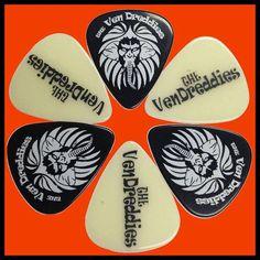 The Ven Dreddies custom guitar picks from ClaytonCustom.com.