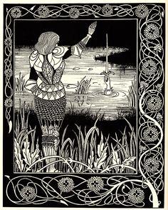 aubrey beardsley | Excalibur in the Lake - Aubrey Beardsley - WikiPaintings.org