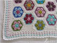 Ravelry: AnaBC's African Flower Baby Blanket
