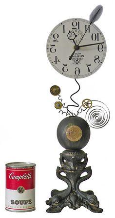 Barbershop Clock from Roger Woods at Klockwerks.