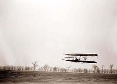 Wright Brothers in flight.