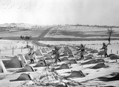 Members of the Allies' first ski patrol in action on the Western Front pass through the dragon's teeth of the Siegfried Line as they reconnoiter for. Ligne Siegfried, Siegfried Line, Dragon's Teeth, Last Stand, World War Ii, Mount Rushmore, Skiing, Germany, Army