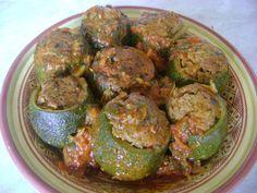 Courgettes rondes farcies à la viande hachée - Les délices de latifa