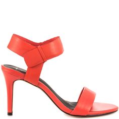 66.00$  Buy here  - Red One Strap Mature Women Sandals Stilettos High Heel Women Shoes Sandals With Heels Made-to-order Plus Size Heeled Sandals