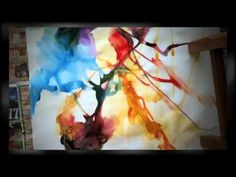 Abstract Art   Contemporary Art   Watercolor   Deb - YouTube