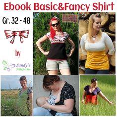 Nähanleitungen Mode - Ebook Basic & Fancy Shirt Gr. 32 - 48 - ein Designerstück von Sandys-Naehkaestchen bei DaWanda