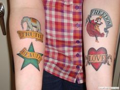 Freedom, beauty, truth and love... want to get this but small on my foot to complete my foot piece...
