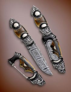 More stunning knife-making artistry from Andre Andersson. These are works of art as well as being functional pieces.