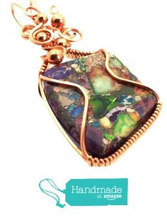 Sea Sediment Jasper Gemstone Copper Wire Wrapped Pendant from Angelleesa Designs https://www.amazon.co.uk/dp/B01KMFPZ2A/ref=hnd_sw_r_pi_dp_tjM7xbQJ895C4 #handmadeatamazon
