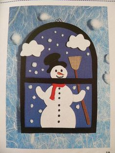 Beautiful Christmas Cards That You Can Get An Idea From Tapas, Christmas Decorations, Christmas Ornaments, Holiday Decor, Kids Bulletin Boards, Classroom Decor Themes, Beautiful Christmas Cards, Snowman Crafts, Winter Art