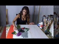 Red and Colorful Abstract Acrylic Painting - YouTube