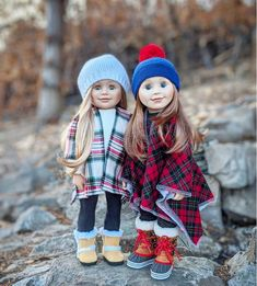 Maplelea dolls Léonie and Charlsea on a fall nature walk Autumn Nature, Walking In Nature, Doll Clothes, Winter Hats, Hipster, Dolls, Cute, Photos, Style