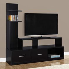 Monarch Specialties A Display Tower TV Stand, Cappuccino Brown Tv Unit Furniture, Living Room Furniture, Furniture Design, Furniture Storage, Luxury Furniture, Tv Unit Design, Tv Wall Design, Armoire Tv, Tv Stand Wayfair