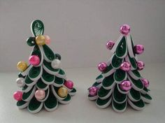 Quilled 3D Christmas Trees