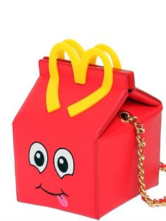 MOSCHINO - HAPPY MEAL LEATHER SHOULDER BAG - LUISAVIAROMA