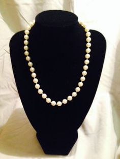 Vintage Off White Rare Beaded Necklace