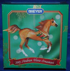 Breyer~Christmas 2003~Beautiful Breeds~ARABIAN HORSE~Arab Holiday Ornament~NIB