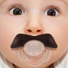 Mustachifier baby pacifier so cute !