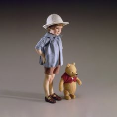 """Bears Hearty R John Wright Playtime Collection """"cole"""" And """"milly"""" High Quality Materials"""