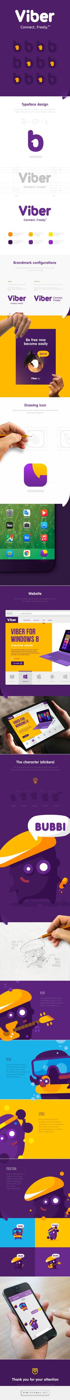 Viber Brand Identity and not only on Behance - - - - - - - - - - - - -... - a grouped images picture - Pin Them All