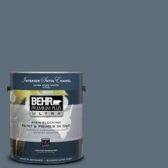 BEHR Premium Plus Ultra 1-gal. #N480-6 NYPD Satin Enamel Interior Paint 775301 at The Home Depot - Mobile