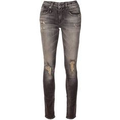 R13 'Alison' skinny jeans ($315) ❤ liked on Polyvore featuring jeans, pants, bottoms, jeans/pants, grey, denim skinny jeans, skinny fit jeans, grey jeans, cut skinny jeans and gray jeans