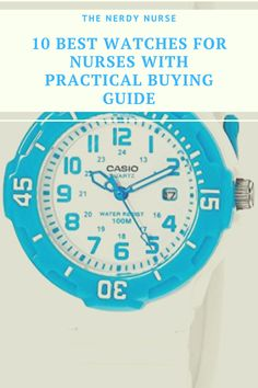 10 Best Watches for Nurses. I always viewed a watch as part of the fundamental nursing uniform. Check out my list of 10 Best watches for nurses and find the perfect watch for you. #thenerdynurse #nurse #nurses #nursewatch #nursegear #watches #giftsfornurses #nursegifts Nurse Meaning, Nursing Pins, Nursing Profession, New Nurse, Cool Tech Gadgets, Eye Roll, Time Management Tips, Education And Training, Nurse Life
