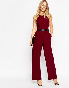 ASOS Tailored Jumpsuit with Belted Waist Detail