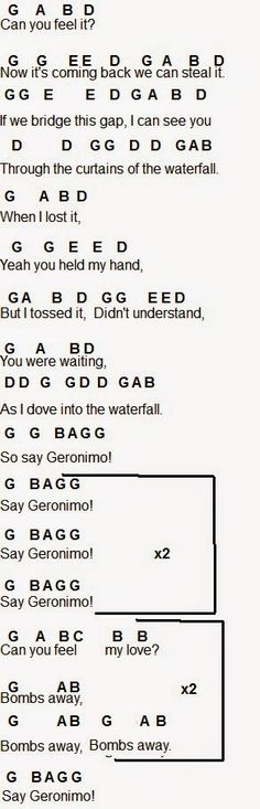 Flute Sheet Music: Geronimo