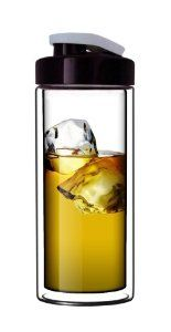 Sun's Tea (TM) 18oz Ultra Clear Double-Wall Glass Travel Mug with Flip-on Drinkhole Lid (made of real borosilicate glass) by SUN Valley Enterprises LLC. $18.99. Save 14%!