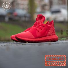 The Adidas Tubular Defiant is the newest addition to the Tubular family. This triple red edition is made with a red sole and a special upper created for this Tubular serie. Red laces and a dope reptile print give these sneakers their finishing touch.  Now online available | Priced at 119.99 | Wmns sizes 36 - 42.5 |
