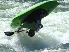 Playboating Chili Bar Hole on the South Fork of the American River, California