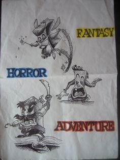pagemaster quick sketch, horror, fantasy, adventure