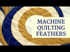 Learn how to quilt a truly custom machine quilted feather and it's easier than you might think! In this FREE video series, Angela Walters, not only shows you how to quilt a beautiful, custom feather, you will also get a free downloadable PDF of quilting diagrams!