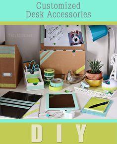 DIY Custom Desk Accessories at TidyMom.net
