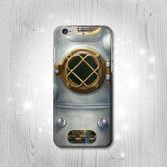 Vintage Deep Sea Diver Helmet iPhone 6S 6 Plus 6 5 by Lantadesign