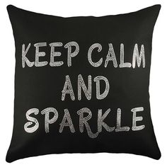 Lend a touch of sparkle to your favorite arm chair or sofa with this lovely pillow, featuring an eye-catching typographic motif.   P...